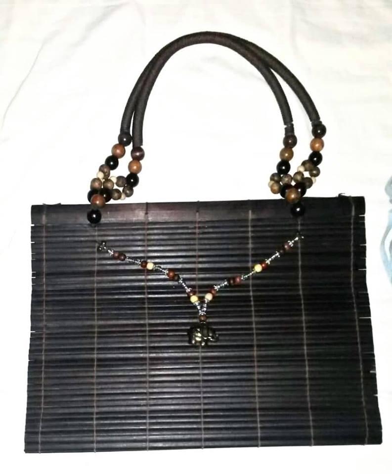 Bamboo Beaded Ladies' Bag (Item #4)