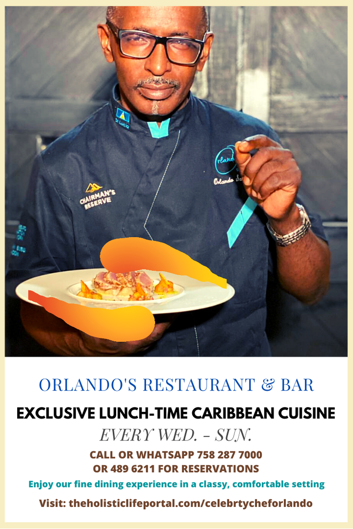 Reserve lunchtime Caribbean dining at Orlando's Restaurant & Bar