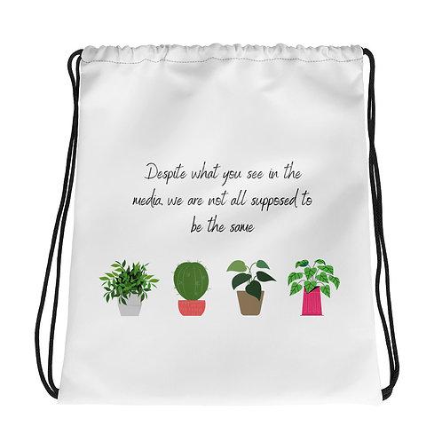 Drawstring bag   Body Positivity Cactus