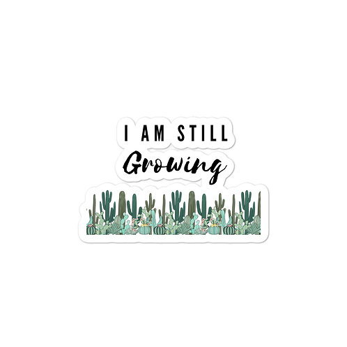 Bubble-free stickers | I am still growing cactus