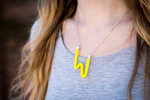 Yellow candy bar necklace