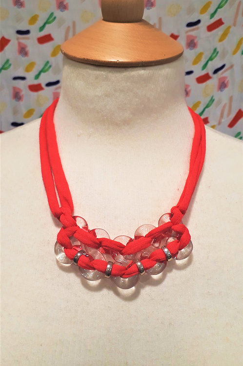 Hot Pink eight necklace
