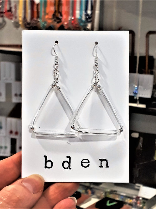 Triangle tube earrings