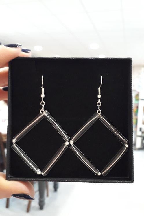 Square tube earrings