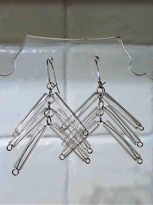 Kinetic tube earrings