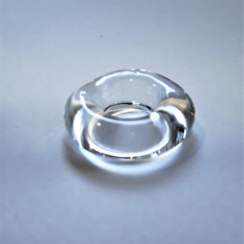 Glass hoop bead