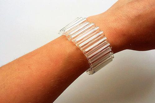 Wide tube bracelet