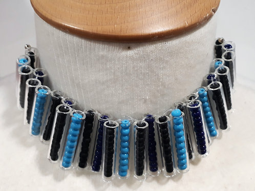 Blue tube choker