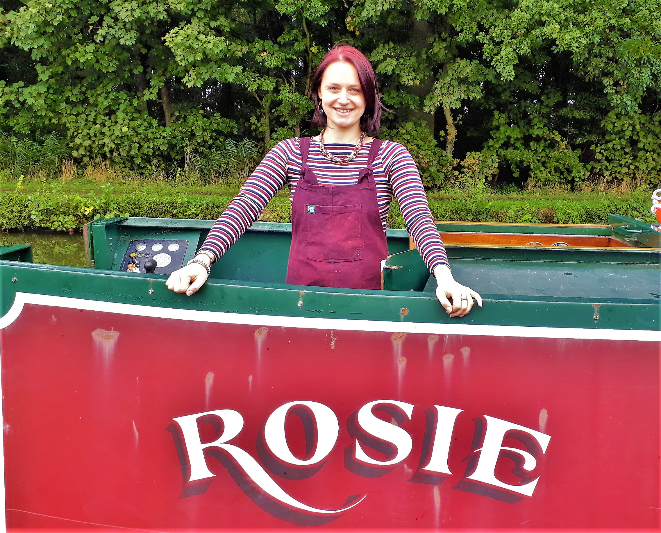 Rosie on the narrow boat also called Rosie