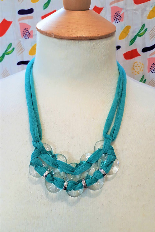 Mint green eight necklace