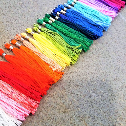 Handmade cotton tassels -pack of 6