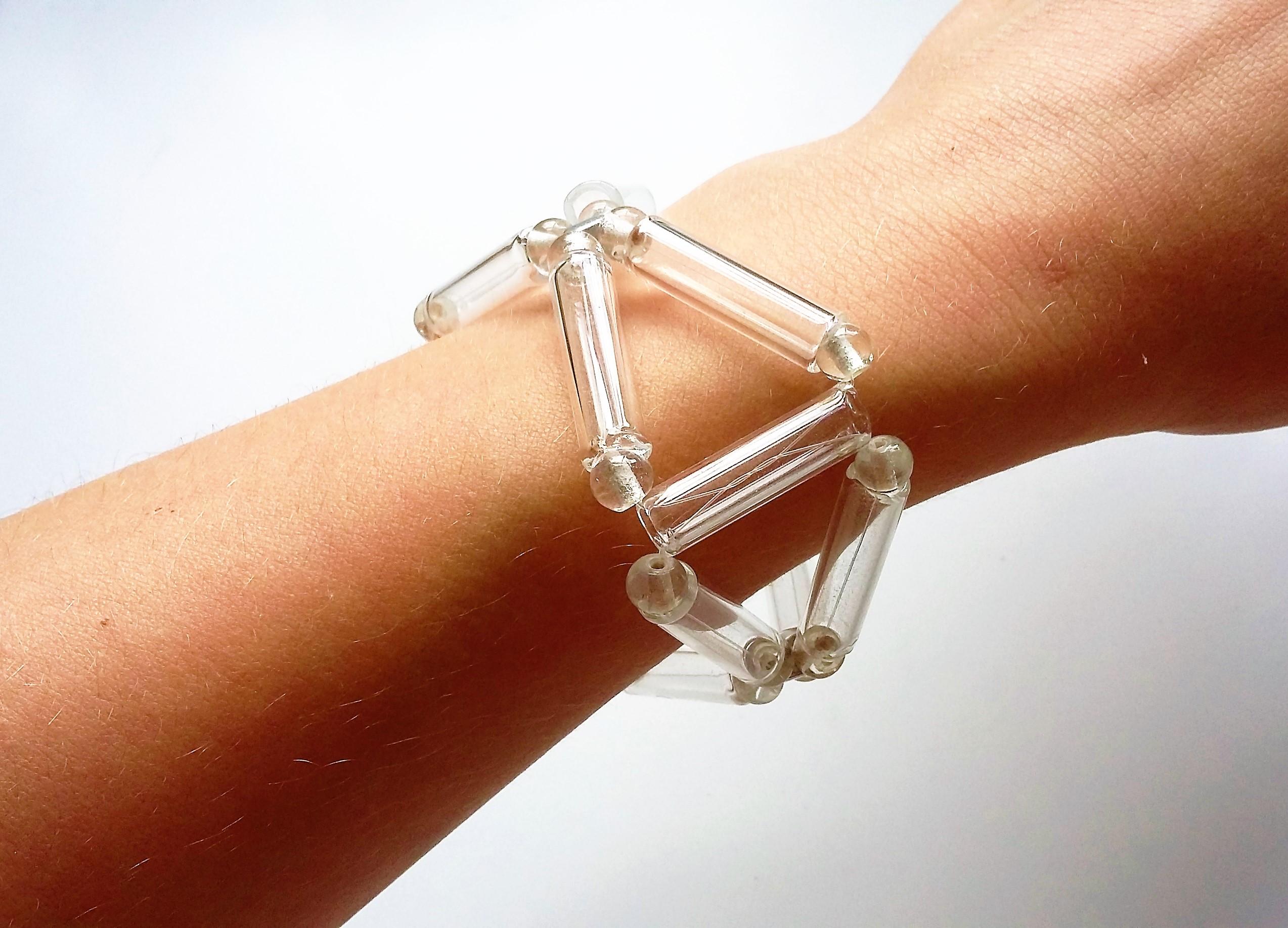 Triangle tube bracelet