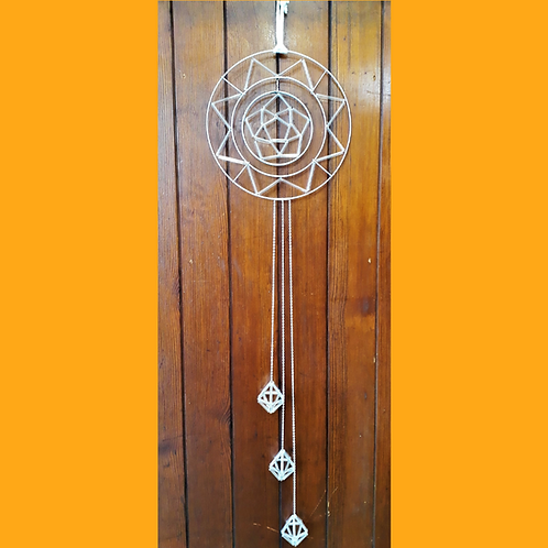 Triple Hanging Pentagonal Bipyramid Dreamcatcher
