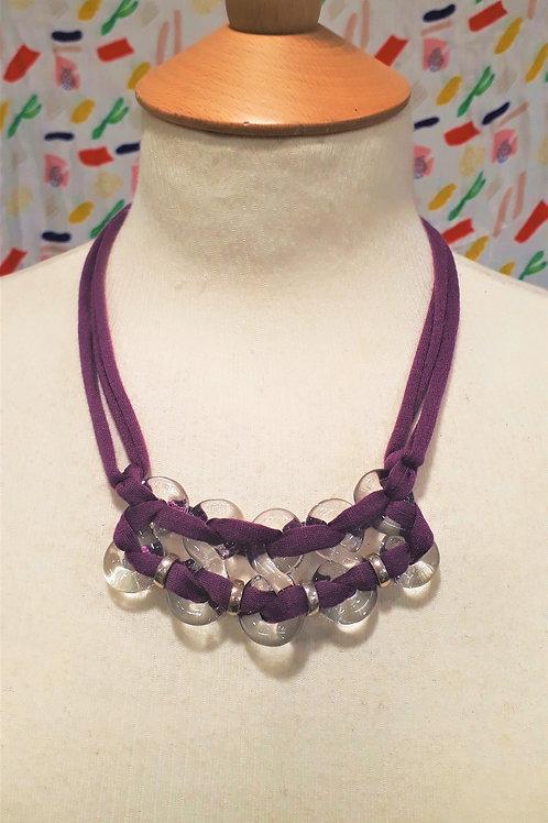 Purple eight necklace