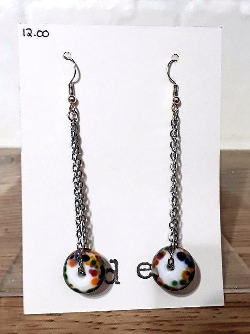 Frit bead earrings