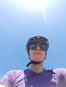 Cycling in the sun