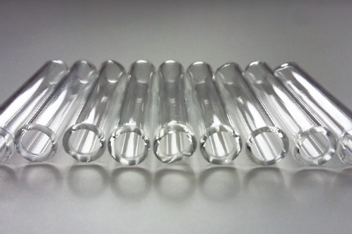 Glass tube beads 7 mm - pack of 20