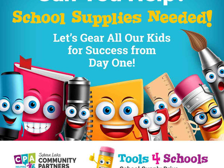 Tools 4 Schools School Supply Drive