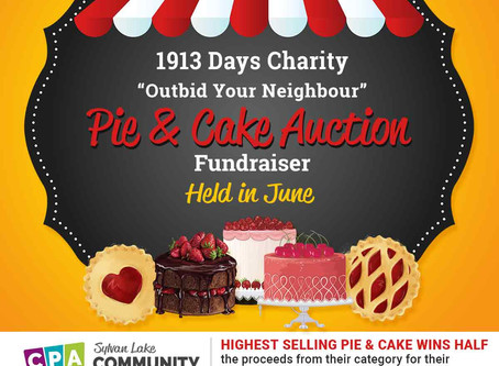 "1913 Days ""Outbid Your Neighbor"" Pie & Cake Auction"