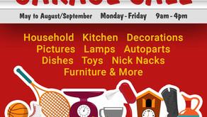 Summer Long Charity Garage Sale