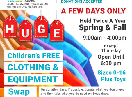 Free Children's Clothing, Toy & Equipment Swap