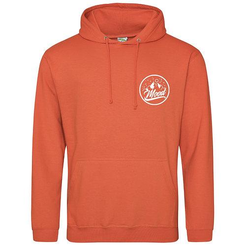 Mood (Burnt Orange And White) Hoodie