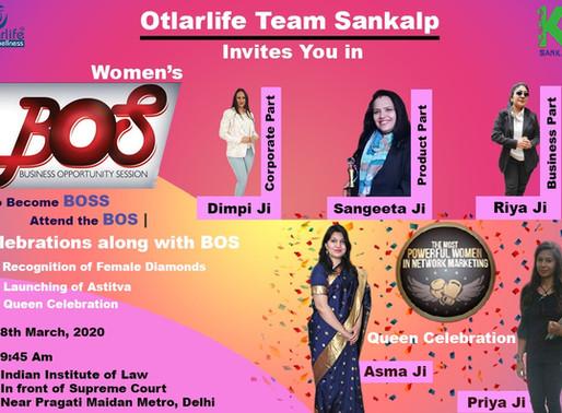 BOS | Delhi | Womens Day | 8th March
