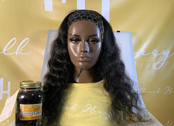 Unprocessed natural color Headband wig 22in''
