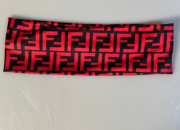 Fendi black/red headband