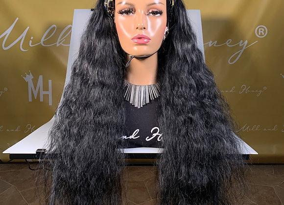 Unprocessed natural color Headband Wigs