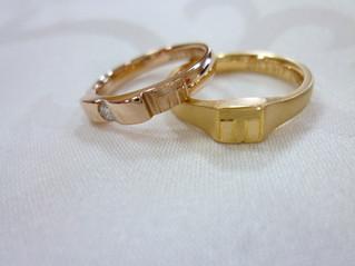 お2人の個性を指輪に