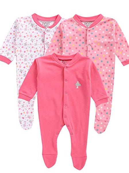Full Length Printed Baby Footies Sleepsuit Pack of 3