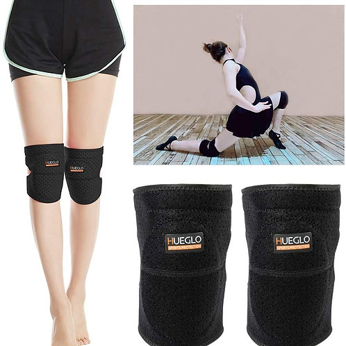 HUEGLO Protective Knee Pads for Dancers,Volleyball Knee Pad for Girls,Elbow Pad