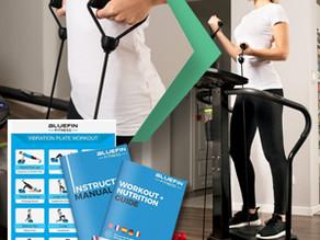 Bluefin Fitness Vibration Platform   Pro Model   Upgraded Design with Silent Motors and Built in Spe
