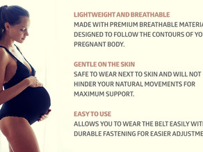 Maternity Belt, Breathable Pregnancy Back Support, Premium Belly Band, More Than 1.3M Happy Mothers