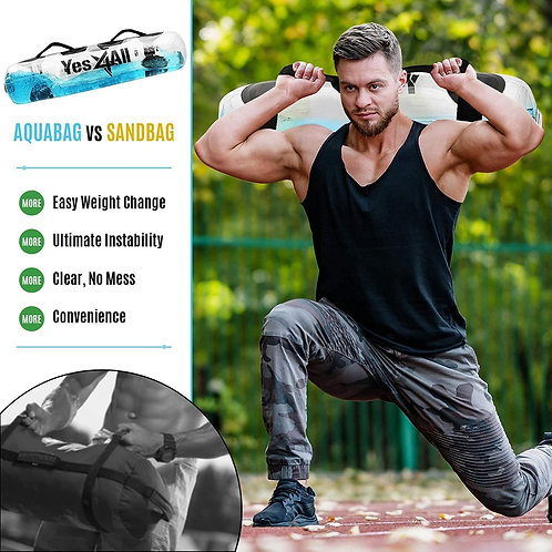 Yes4All Aqua Weight Bags for Full Body Training, Challenge Weight Bag - Substitu