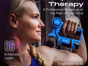 Vybe Percussion Massage Gun - Handheld, Brushless, Cordless, Electric -Deep Tissue Therapy, Body Mas