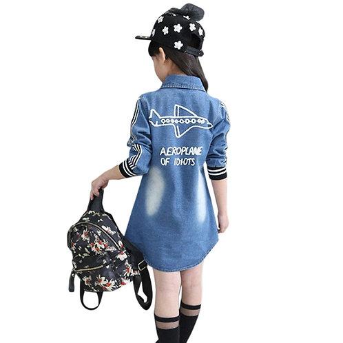 Girl's Text Print Regular Jacket