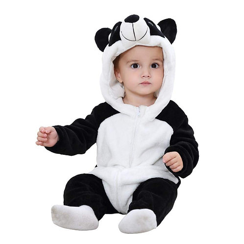 Baby Flannel Jumpsuit Panda Style Cosplay Clothes Bunting Outfits Snowsuit Hoode