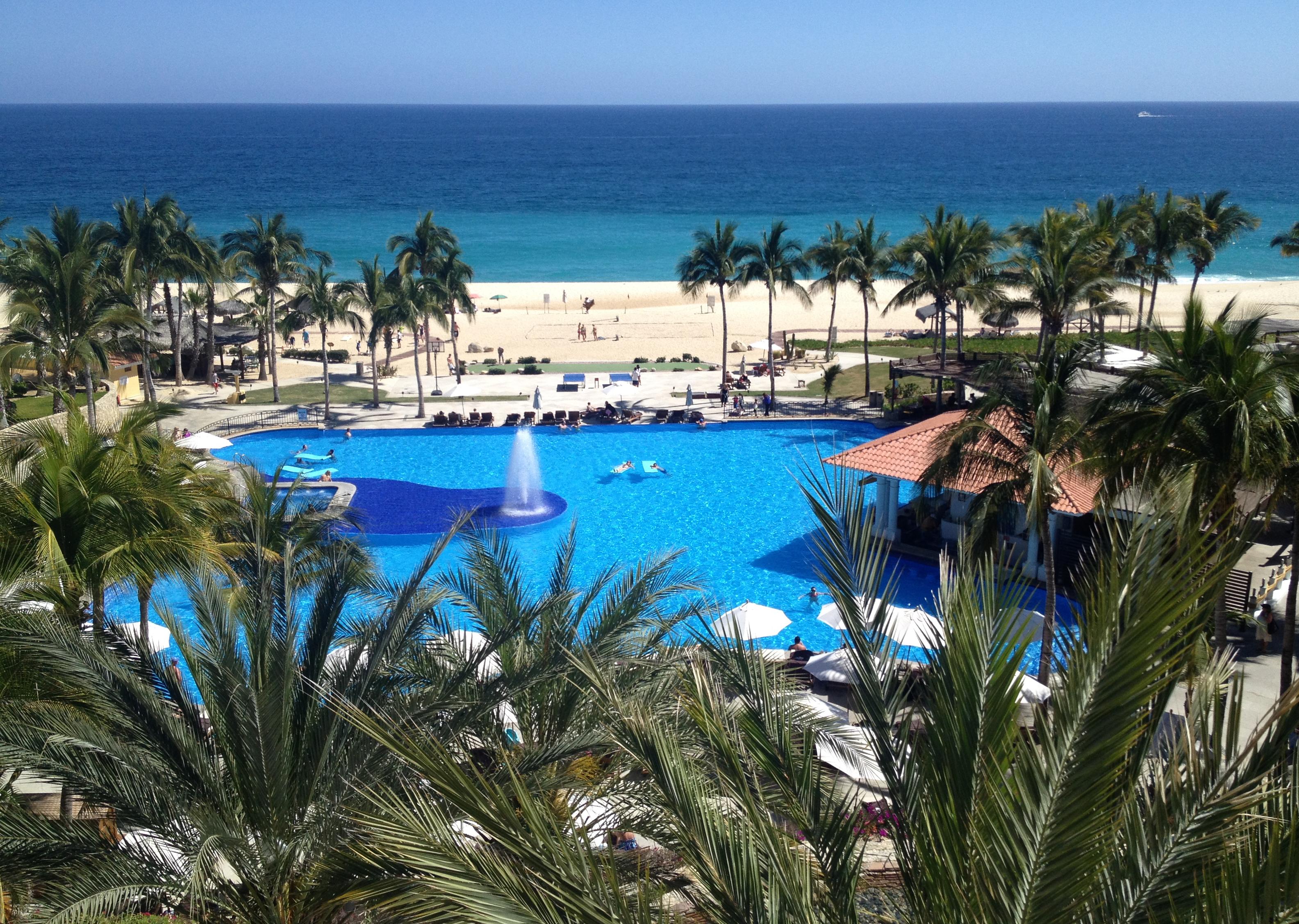 hotel pool sea view