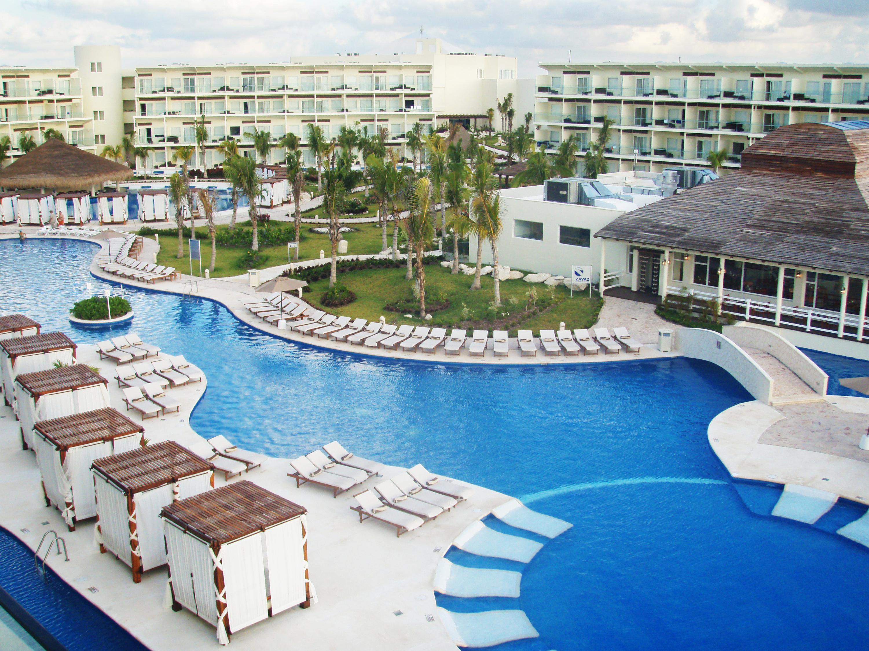Hotel Pool with cabanas