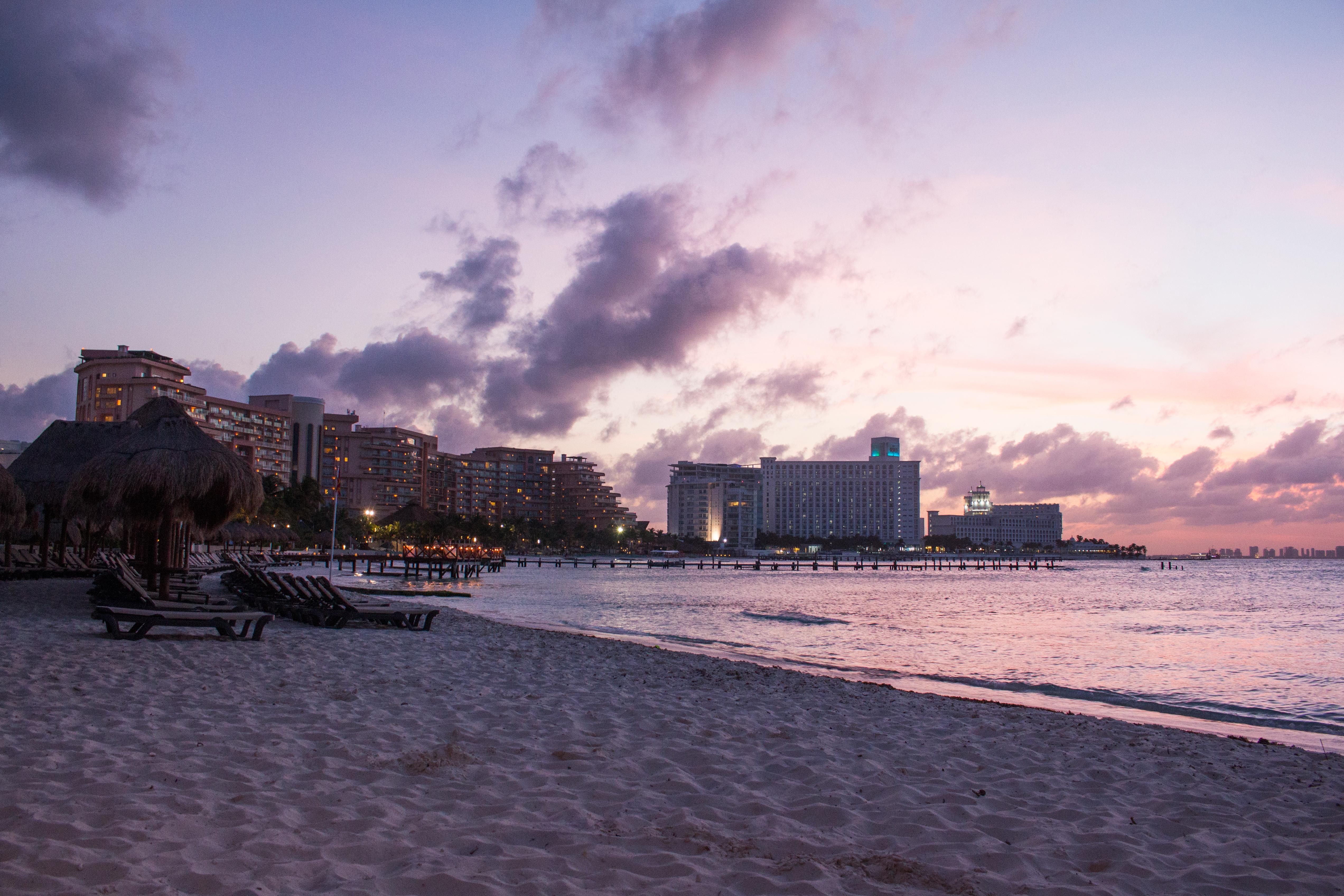 Resorts at sunset