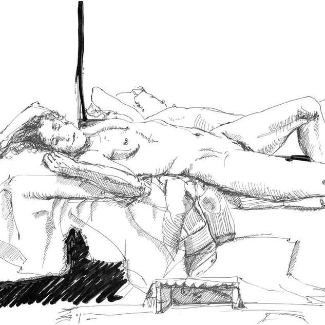 Nudo femminile_en plein air_30x40cm_2014