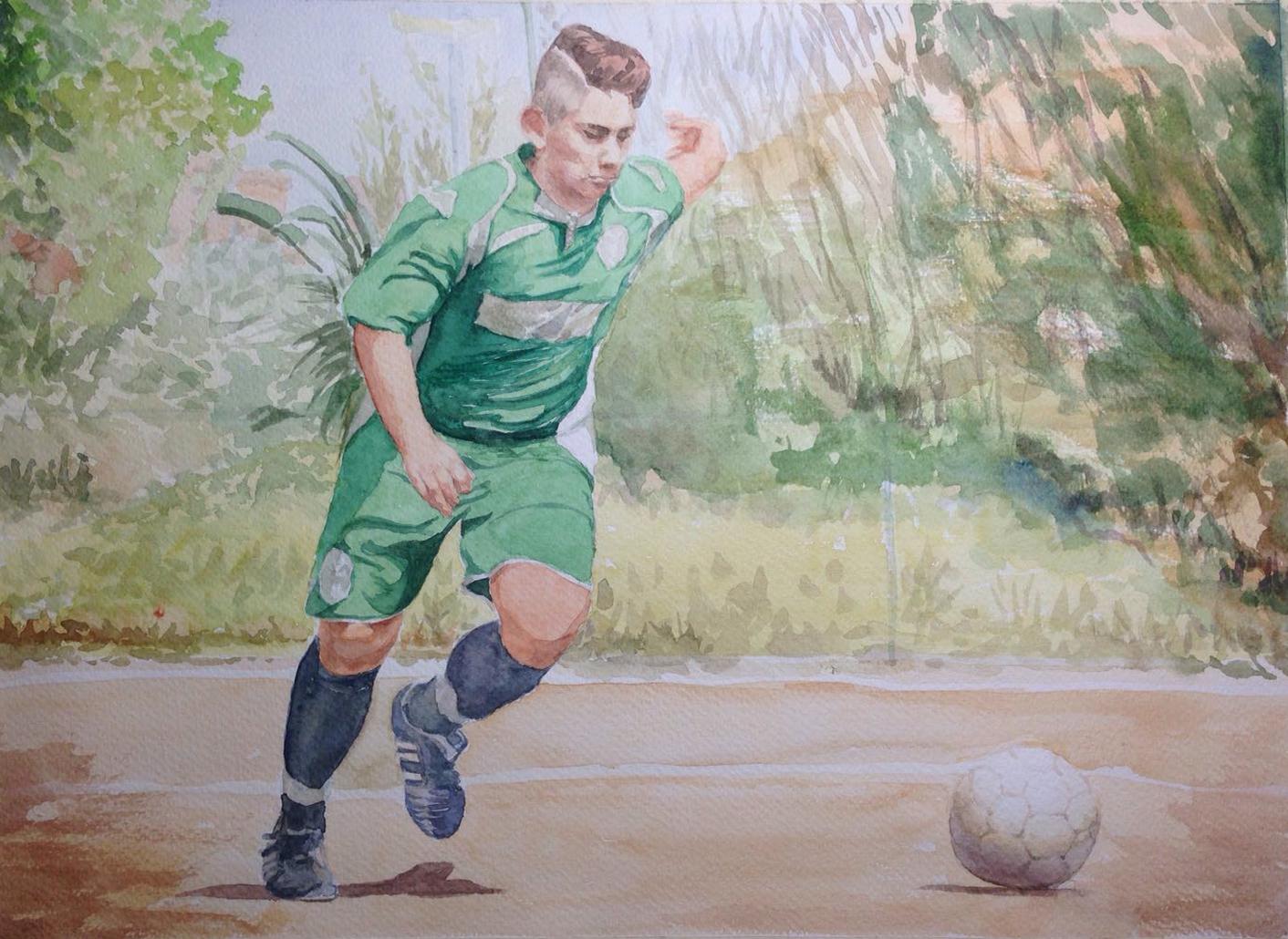 Il calciatore_30x42cm_2017