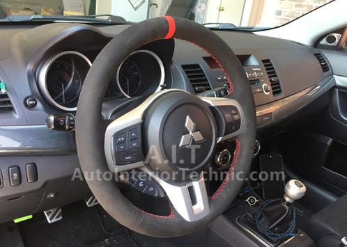 evo x steering wheel wrap auto interior parts