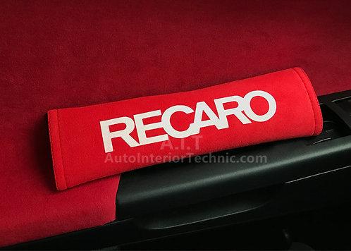 Ultrasuede seat belt shoulder pad