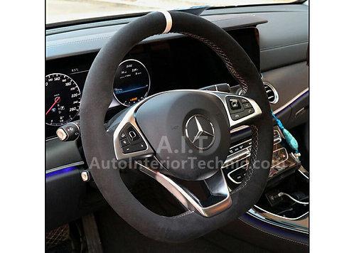 15-17 C-Class Flat Bottom Steering Wheel Wrap