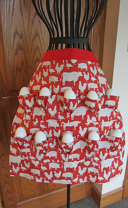 Chicken Wire (red) - Egg Gathering Apron