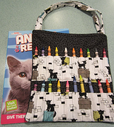 Alley Cat Silhouette - Kid's Crayon Tote