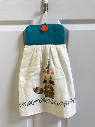 Pumpkin Pie Raccoon - Towel